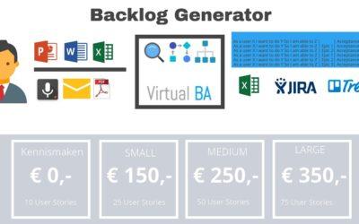 Nieuw SCRUM Backlog Generator